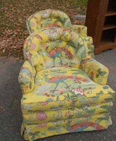 An Early Thrifted Thursday // Vintage Peacock Club Chairs