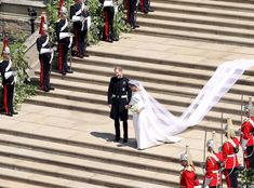 Today, fans from around the world tuned in to catch the Royal Wedding. Prince Harry and Meghan Markle, now the newly titled Duke and Duchess of Sussex, said their vows at the breathtaking St. Harry And Meghan Wedding, Harry Wedding, Wedding Day, Wedding Stuff, Meghan Markle Wedding Pictures, Meghan Markle Photos, Meghan Markle Dress, Meghan Markle Wedding Dress, Prince Harry Photos