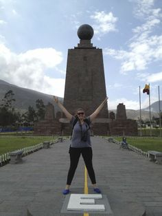 "Travel, Hike, Eat. Repeat.: latitude: 00° 00' 00"" (the equator in ecuador)"