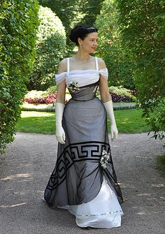 Before the Automobile: Edwardian evening gown More