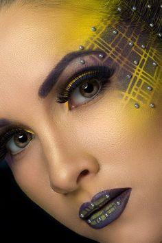 Makeup Artistry: Purple and Yellow by  makeup artist Zorya Zaytseva
