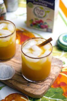 Iced Pumpkin Green Tea Cocktail Recipe @FoodBlogs