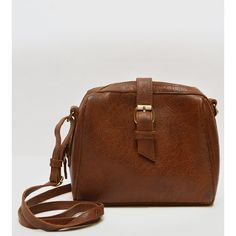 mo&co. bags Sam Leather Crossbody Bag featuring polyvore, fashion, bags, handbags, shoulder bags, standard, brown crossbody, cell phone crossbody, evening handbags, leather crossbody and brown leather crossbody