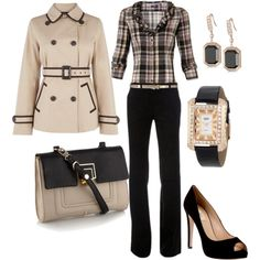 """""""work wear - plaid"""" by lulums on Polyvore"""