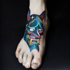 Hannya for Maikel! Thanks buddy! Tattoo Placement Foot, Foot Tattoos, Print Tattoos, Sleeve Tattoos, Tribal Fashion, Future Tattoos, Toe Nails, Cool Things To Make, Tattoo Artists