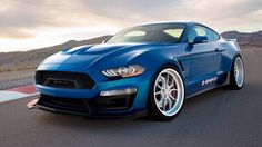 The Shelby 1000 is back, but this time there's no street-legal version. Instead, Shelby American built this Mustang to be a dedicated track star. Ford Mustang Shelby, Ford Mustangs, Mustang Cobra, Shelby Gt500, Mustang Tuning, Blue Mustang, S550 Mustang, Mustang Boss, Mustang Fastback