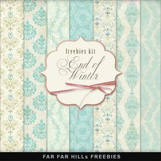 Far Far Hill: New Freebies Kit of Backgrounds - End of Winter