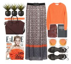 """""""Maxi Skirt In Weekend"""" by jiabao-krohn ❤ liked on Polyvore featuring Topshop, Marni, Belstaff, Givenchy, Karen Walker, CB2 and Rebecca Minkoff"""