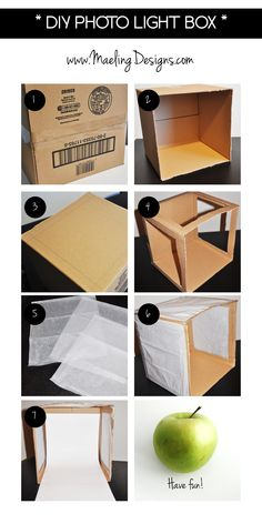 DIY Photo Light Box Steps