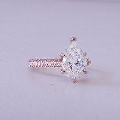 Pear cut diamonds engagement ring by Vanessa. https://www.vanessanicoleengagementrings.com/