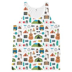 Camping Equipment All-Over Print Tank Top Tank Tops