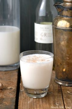 Classic New Orleans Brandy Milk Punch.  A silky Brunch cocktail or 'the hair of the dog' solution!  A lighter version of a Mardi Gras tradition. - BoulderLocavore.com