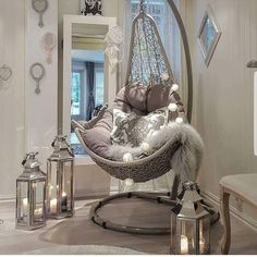 Time to Relax by - Architecture and Home Decor - Bedroom - Bathroom - Kitchen And Living Room Interior Design Decorating Ideas - Living Room Decor Cozy, Cute Room Decor, Cozy Room, Home Decor Bedroom, Bedroom Ideas, Cozy Living, Small Living, Girl Bedroom Designs, Girls Bedroom