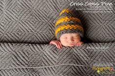 Baby Boy Hat Criss Cross Pixie Bonnet Handknit Newborn Photo Prop Chinstrap Cap by TrickyKnits
