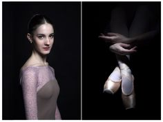 Ballet dancer portrait