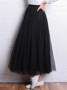 Shop Black High Waist Triple Layer Maxi Tutu Skirt from choies.com .Free shipping Worldwide.$29.9