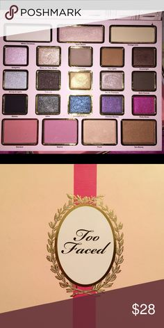 """Too Faced """"La Grand Palais"""" limited edition !!!!!! Too Faced eyeshadow palette """"La Grand Palais"""" !!! Limited edition !!! $58 value💄💄💄 BRAND NEW !!!!! NEVER USED. One/two shades have been tested on hand before deciding to sell) Too Faced Makeup Eyeshadow"""