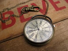 Men's Vintage Inspired Large Pocket Watch by Recycled Rings