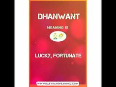 Dhanwant Name Meaning