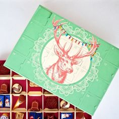 DIY your own chocolate advent calendar with this tutorial.