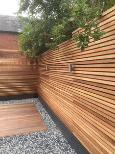 Western Red Cedar SertiWOOD Battens-Screen Slats Pack) Contemporary Fence or Cedar Cladding - Modern Design Backyard Fences, Backyard Landscaping, Landscaping Edging, Coastal Landscaping, Fenced In Yard, Backyard Ideas, Contemporary Fencing, Contemporary Landscape, Western Red Cedar Cladding