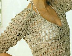 Suéter Ligero Calado 2 Agujas