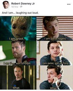 marvel avengers Source by genevieve_tkd Avengers Humor, Marvel Jokes, Funny Marvel Memes, The Avengers, Dc Memes, Funny Comics, Disney Jokes, Funny Disney Memes, Funny Relatable Memes
