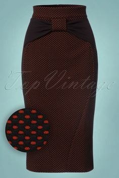 Vintage Chic Polkadot Bow Pencil Skirt 120 14 22135 20170815 1