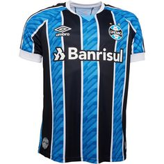 Umbro FBPA Gremio short sleeve home jersey. Retro Football Shirts, Black And White Colour, Real Madrid, Rain Jacket, Sleeves, Jackets, Tops, Hogwarts, Adidas Men
