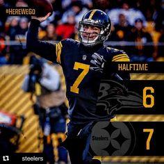 #Repost @steelers with @repostapp  Halftime in Pittsburgh. #steelernation #herewego
