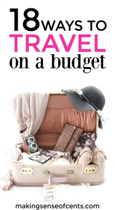 18 Ways to Travel on a Budget! You don't need to go broke in order to go on a vacation. Yes, you can travel on a budget, it's all about knowing budget travel tips and tricks! Travel Jobs, Ways To Travel, Best Places To Travel, Travel Hacks, Travel Ideas, Travel Essentials, Travel Stuff, Travel Advice, Work Travel