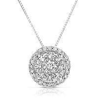 0.71 CT. T.W. Diamond Unity Pendant Set in 14K White Gold (I, I1) - Sam's Club