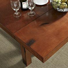Rustic Dark Oak Wood Dining Table