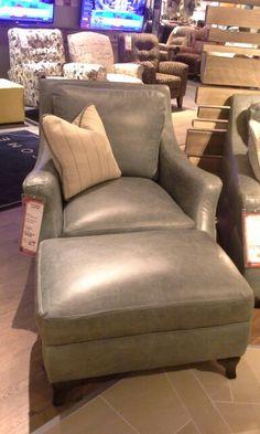 Simon Li Silver Lake Chair And Ottoman. Top Grain Leather. Regular Price  $1744.95,