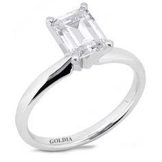 1.50 Ct. Emerald-Cut Diamond Engagement Ring