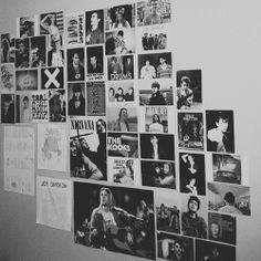 black and white photo collage