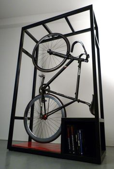 space saving bicycle stand