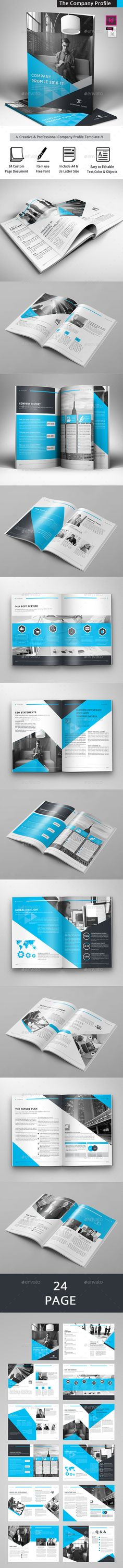 The Company Profile  — InDesign Template #brochure template #proposal • Download ➝ https://graphicriver.net/item/the-company-profile/18330923?ref=pxcr