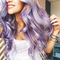 Image via We Heart It https://weheartit.com/entry/168260547 #curly #fashion #girl #girly #hair #hairstyle #photography #purple #style #stylish #violet #wavy