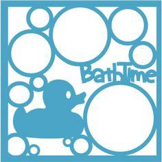 Bath Time - 12 x 12 Laser Die Cut Scrapbook Overlay