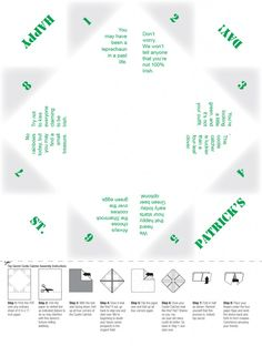 A St. Patrick's Day cootie catcher! A free printable (for adults) to help you celebrate Saturday.