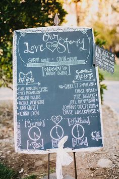 We've rounded up a few of our favorite, creative wedding sign ideas that you can easily incorporate into your ceremony or reception decor!