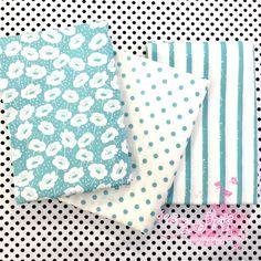 ¡ NUEVO! 3 unids azul fat quarter bundle 100% Tela de Algodón para Patchwork quilting Tilda Muñeca de DIY de Coser Textiles Tela Tela 50*40 cm