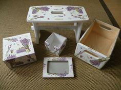 Decoupage lavender set