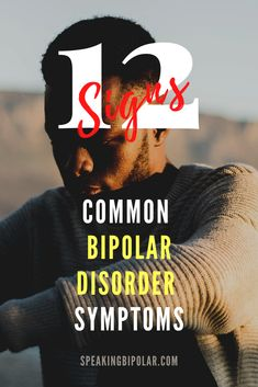 Bipolar Disorder can be very disruptive, but it is also very treatable. This post looks at 12 common signs of bipolar. | #Bipolar #MentalHealth #MentalHealthAwareness #BPD #SpeakingBipolar Bipolar Symptoms, Bipolar Disorder, Bpd, Mental Health Awareness, Mental Illness, Disorders, Real Life, Notes, Inspire