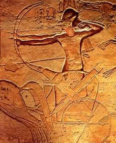 Ramsès II à la bataille de Qadesh. Ancient Egyptian Art, Ancient History, Battle Of Kadesh, Ramses, Sea Peoples, History Encyclopedia, Arte Tribal, Art Sculpture, Amon