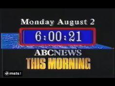 ABC News This Morning -1982 Title Card, Classic Image, Abc News, Logos, Tv, Logo, Television Set, Television