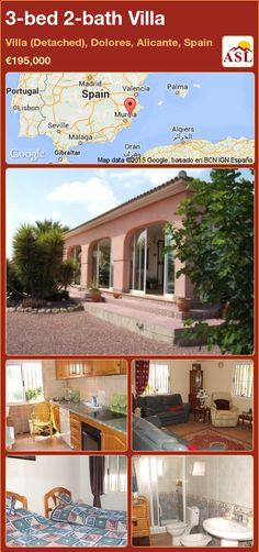3-bed 2-bath Villa in Villa (Detached), Dolores, Alicante, Spain ►€195,000 #PropertyForSaleInSpain
