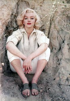 Marilyn Monroe in Laurel Canyon in 1953. Photo by Milton Green.