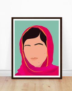 Malala Poster Malala Yousafzai Poster by PoppermostPrints on Etsy